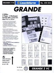 GRANDE -  5 STOCK SHEETS, 2 VERTICAL POCKETS, CLEAR