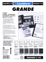 GRANDE -  5 STOCK SHEETS, 3 VERTICAL POCKETS, CLEAR