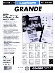 GRANDE -  5 STOCK SHEETS, 6 BLOCKS, CLEAR