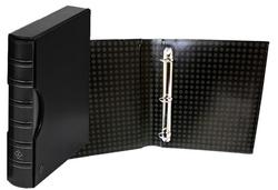 GRANDE -  BLACK 3-RING-BINDER IN CLASSIC DESIGN WITH SLIPCASE