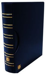 GRANDE -  BLUE 3-RING-BINDER IN CLASSIC DESIGN WITH SLIPCASE