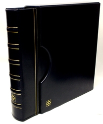 GRANDE -  BLUE 4-RING-BINDER IN CLASSIC DESIGN WITH SLIPCASE
