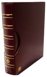 GRANDE -  BURGUNDY 3-RING-BINDER IN CLASSIC DESIGN WITH SLIPCASE