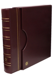 GRANDE -  BURGUNDY 4-RING-BINDER IN CLASSIC DESIGN WITH SLIPCASE