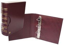 GRANDE -  EMPTY BURGUNDY 4-RING ALBUM WITH SLIPCASE