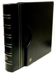 GRANDE -  EMPTY GREEN 4-RING ALBUM IN CLASSIC DESIGN WITH SLIPCASE