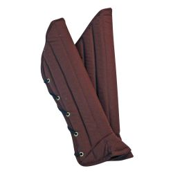 GREAVES -  LEOPOLD PADDED GREAVES - BROWN