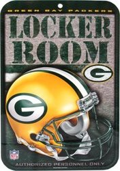 GREEN BAY PACKERS -  LOCKER ROOM SIGN