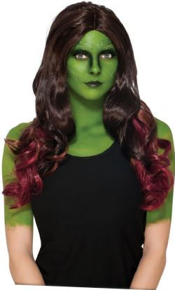GUARDIANS OF THE GALAXY -  GAMORA WIG - BROWN WITH RED HIGHTLIGHTS (ADULT)
