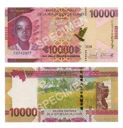 GUINEA -  10 000 GUINEAN FRANCS 2018 (UNC)