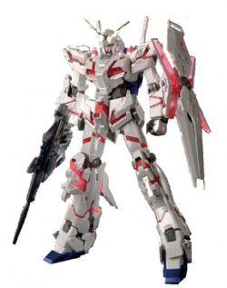 GUNDAM -  RX-0 UNICORN GUNDAM (DESTROYER MODE) FULL PSYCHO-FRAME PROTOTYPE MOBILE SUIT -TITANIUM FINISH VER-