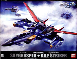 GUNDAM -  SKYGRASPER + AILE STRIKER -<BR>1/60 -PERFECT GRADE- -  MOBILE SUIT GUNDAM SEED