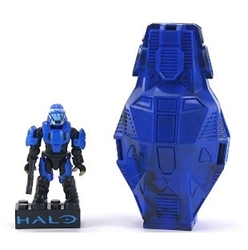 HALO -  MICRO ACTION FIGURE TO COLLECT - METALLIC SERIES