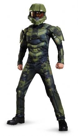 HALO -  MUSCLE MASTER CHIEF COSTUME (TEEN - X-LARGE 14-16)
