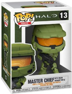 HALO -  POP! VINYL FIGURE OF MASTER CHIEF WITH MA40 ASSAULT RIFLE (4 INCH) 13