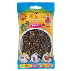 HAMA BEADS -  BEADS - BROWN (1000 PIECES)