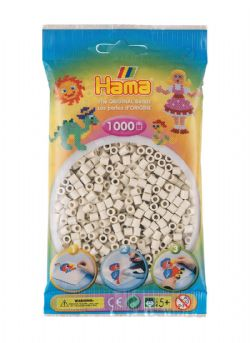 HAMA BEADS -  BEADS - CLOUDY WHITE (1000 PIECES)