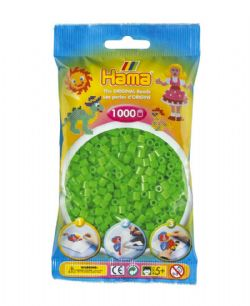 HAMA BEADS -  BEADS - FLUORESCENT GREEN (1000 PIECES)