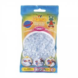 HAMA BEADS -  BEADS GLOW IN THE DARK BLUE(1000 PIECES) 20757