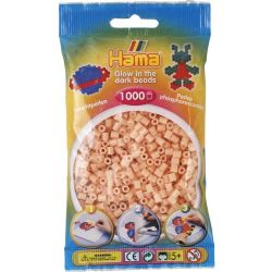 HAMA BEADS -  BEADS GLOW IN THE DARK RED (1000 PIECES) 20756