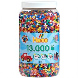 HAMA BEADS -  BEADS IN JAR (13000 PIECES) 21100