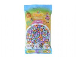 HAMA BEADS -  BEADS - MIX STRIPED (1000 PIECES)