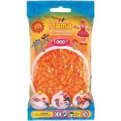 HAMA BEADS -  BEADS - NEON ORANGE (1000 PIECES)