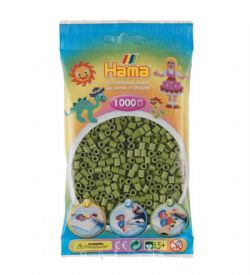 HAMA BEADS -  BEADS - OLIVE GREEN (1000 PIECES)