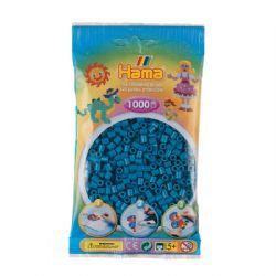 HAMA BEADS -  BEADS - PETROL BLUE (1000 PIECES)