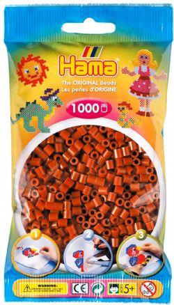 HAMA BEADS -  BEADS - REDDISH BROWN (1000 PIECES)