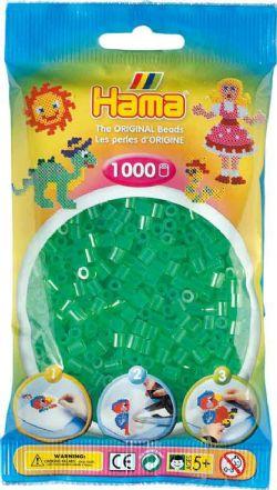 HAMA BEADS -  BEADS - TRANSLUCENT GREEN (1000 PIECES) 20716