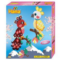 HAMA BEADS -  PARROTS (2500 PIECES)