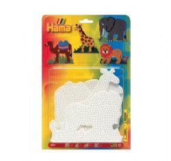 HAMA BEADS -  SAFARI ANIMALS - LARGE PEGBOARDS