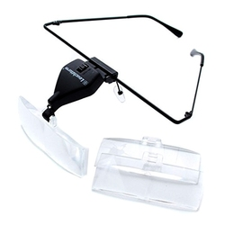 HANDS-FREE MAGNIFIERS -  VISIR MAGNIFIER WITH LED (1.5X-2.5X-3.5X)