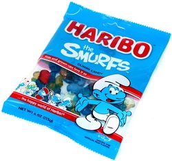HARIBO -  SMURFS GUMMIES CANDY (4OZ)