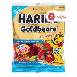 HARIBO -  SUMMER-EDITION GOLD-BEARS GUMMIES CANDY (4 OZ)