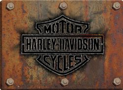 HARLEY-DAVIDSON -  RELIEF METAL POSTER