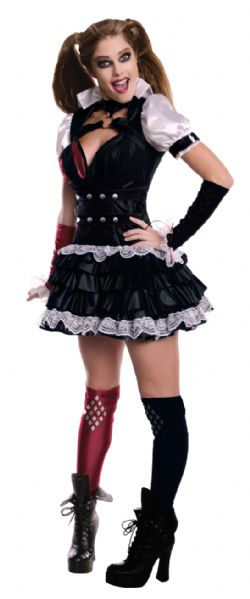 HARLEY QUINN -  ARKHAM COSTUME - BLACK (ADULT) -  ARKHAM CITY