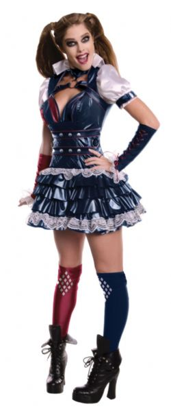 HARLEY QUINN -  ARKHAM COSTUME - BLUE (ADULT) -  ARKHAM CITY