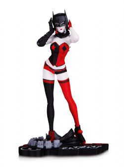 HARLEY QUINN -  HARLEY QUINN STATUE (7.28INCH) -  RED WHITE & BLACK STATUE BY JOHN TIMMS