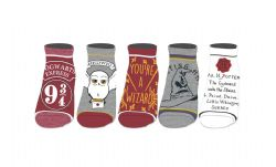 HARRY POTTER -  5 PAIRS ANKLE SOCKS