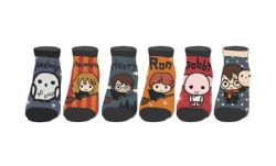 HARRY POTTER -  6 PAIRS ANKLE SOCKS