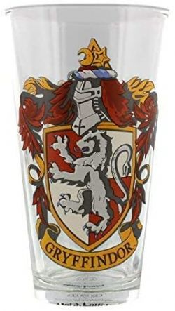 HARRY POTTER -  GLASS -  GRYFFINDOR CREST