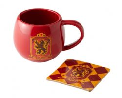 HARRY POTTER -  GRYFFINDOR MUG AND COASTER - RED