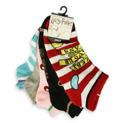 HARRY POTTER -  HONEYDUKES - 5 PAIRS ANKLE SOCKS (9-11)