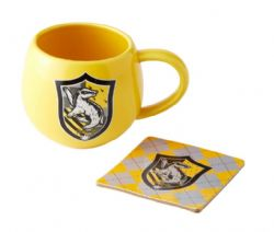 HARRY POTTER -  HUFFLEPUFF MUG AND COASTER - YELLOW