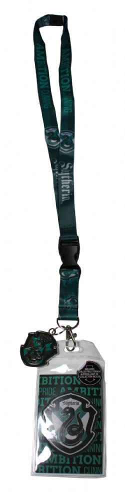 HARRY POTTER -  LANYARD WITH PLASTIC CHARM -  SLYTHERIN
