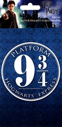 HARRY POTTER -  PLATFORM 9 3/4 HOGWARTS EXPRESS - STICKER