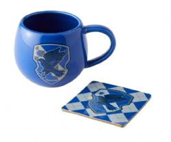 HARRY POTTER -  RAVENCLAW MUG AND COASTER - BLUE