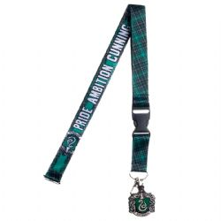 HARRY POTTER -  SLYTHDERIN LANYARD WITH PLASTIC CHARM